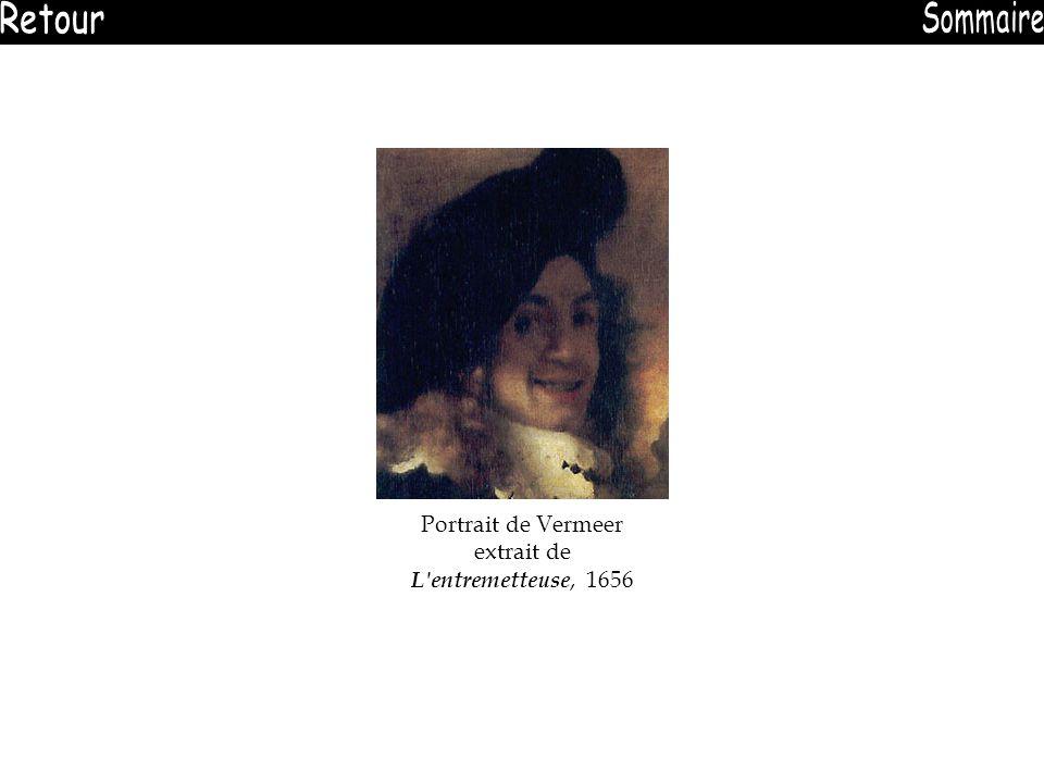 Portrait de Vermeer extrait de L entremetteuse, 1656