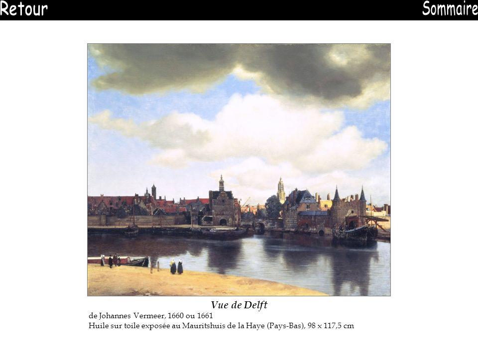 Retour Sommaire Vue de Delft de Johannes Vermeer, 1660 ou 1661