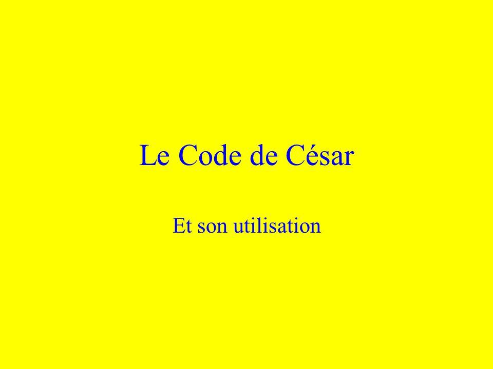 Le Code de César Et son utilisation