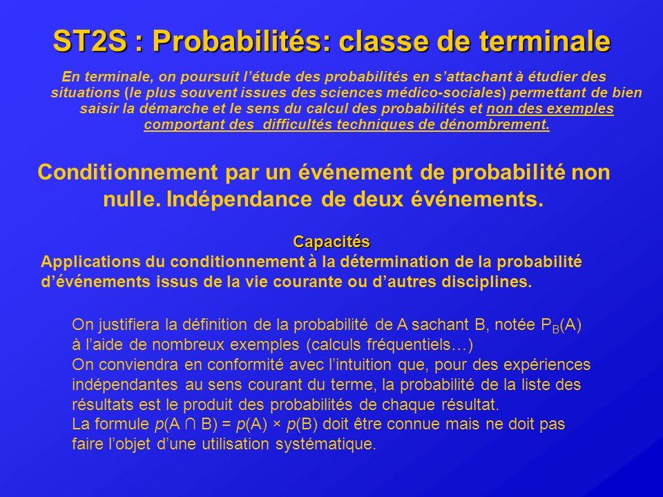 ST2S : Probabilités: classe de terminale
