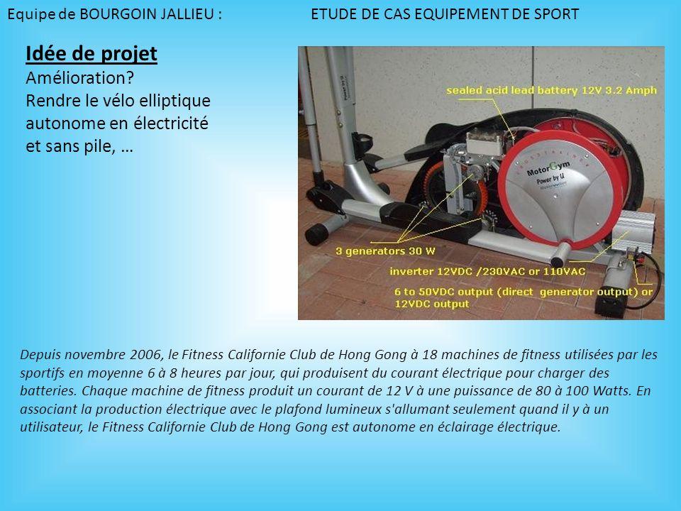 Idée de projet Amélioration Rendre le vélo elliptique
