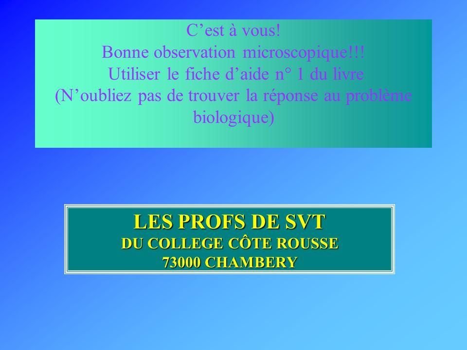 LES PROFS DE SVT DU COLLEGE CÔTE ROUSSE 73000 CHAMBERY
