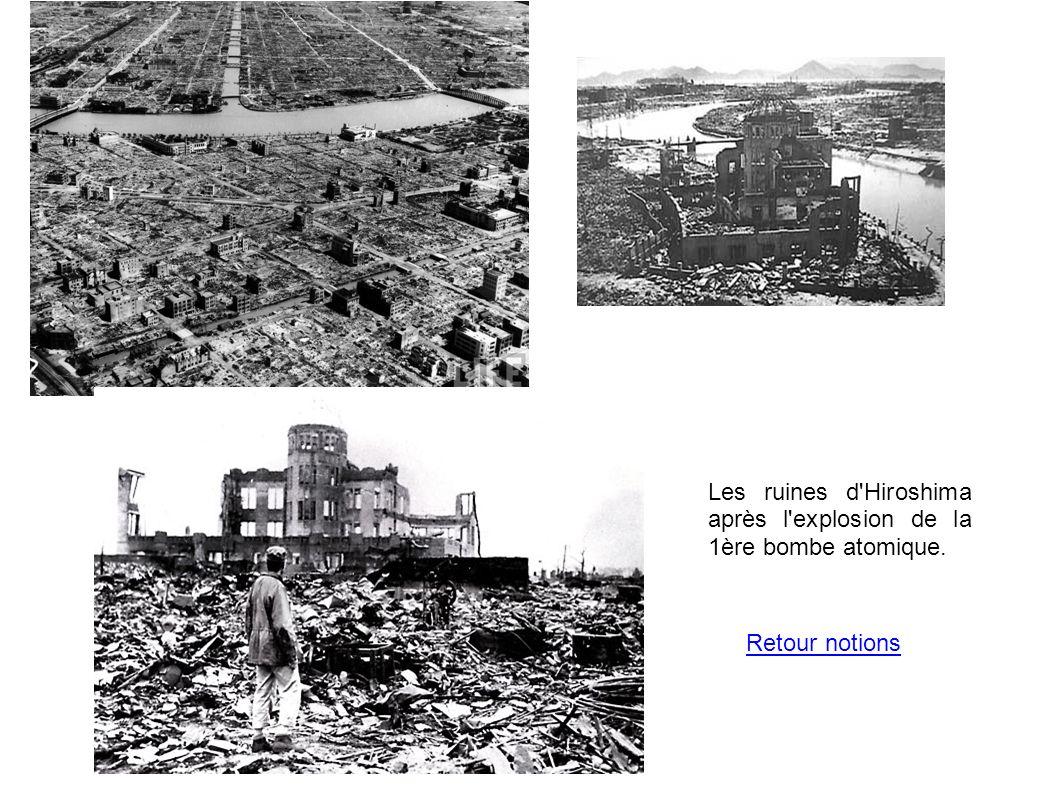 Les ruines d Hiroshima après l explosion de la 1ère bombe atomique.