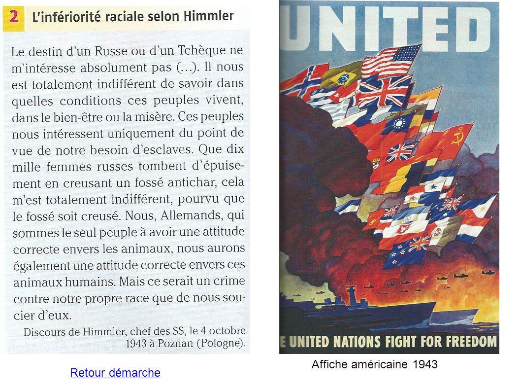 Affiche américaine 1943 Retour démarche