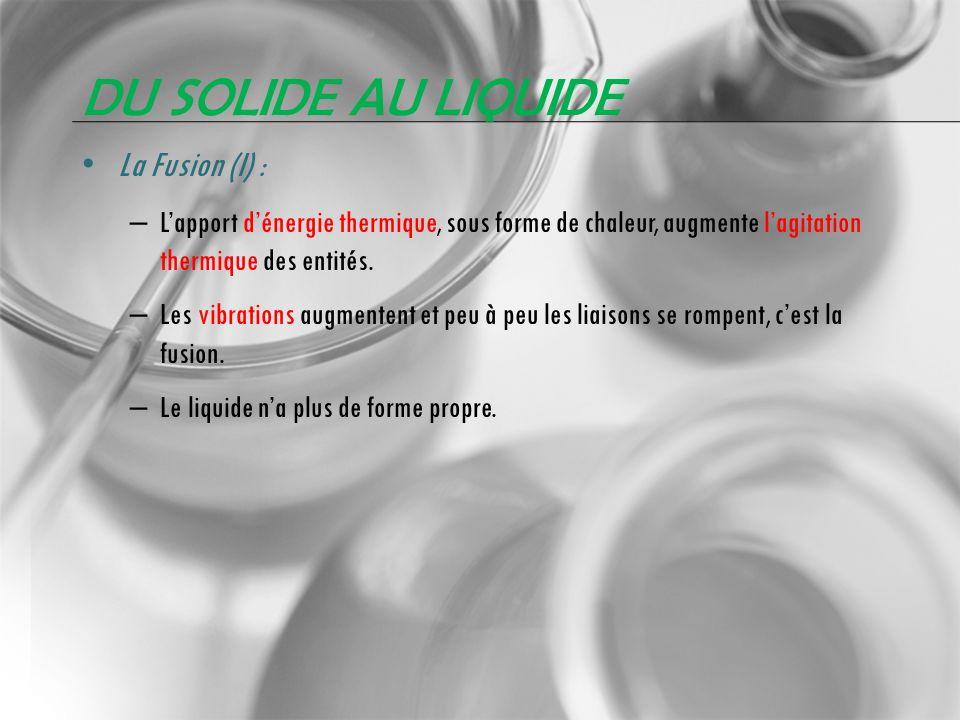Du solide au liquide La Fusion (I) :
