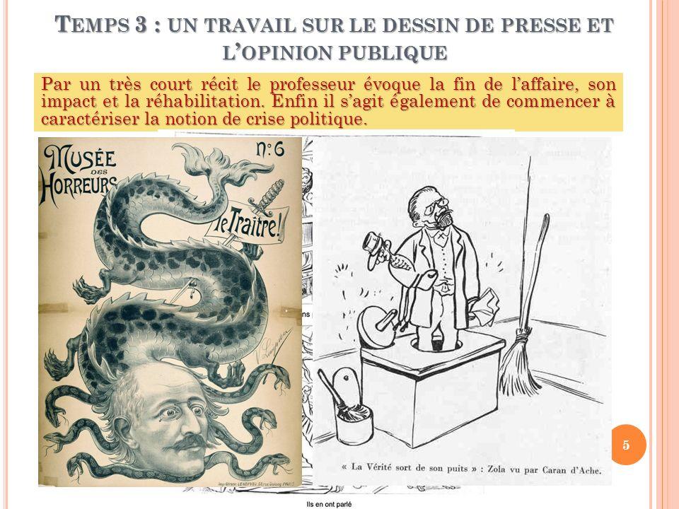 Temps 3 : un travail sur le dessin de presse et l'opinion publique
