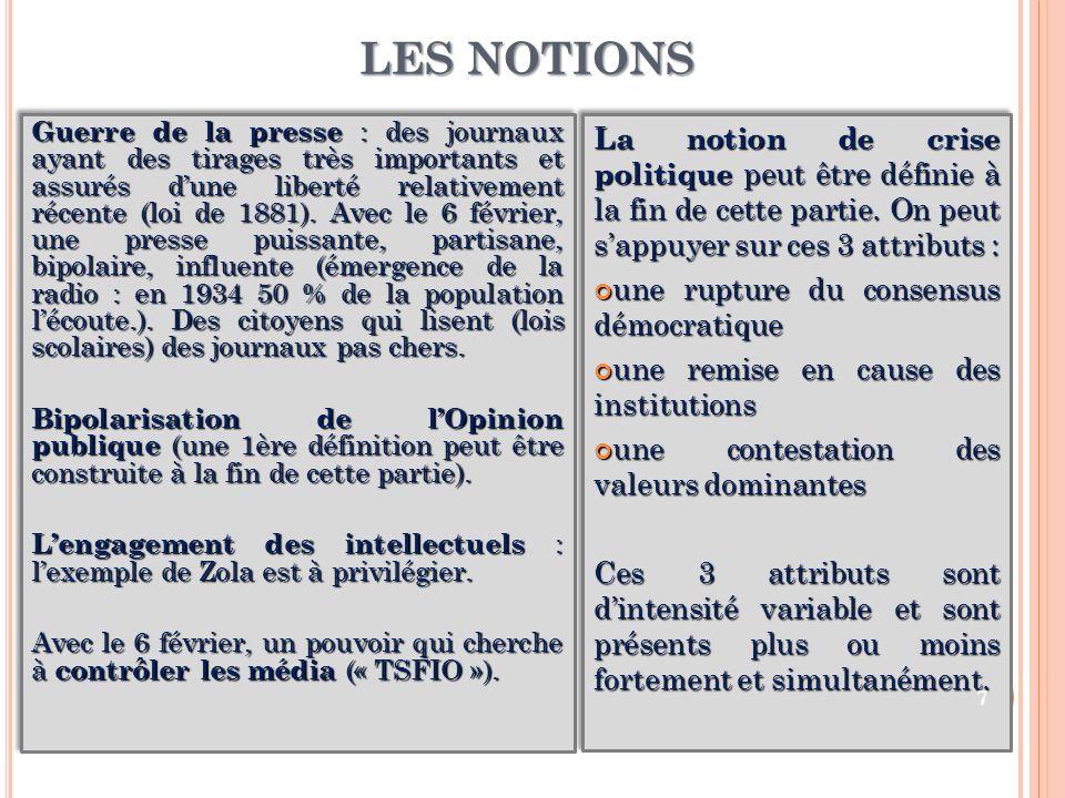 LES NOTIONS
