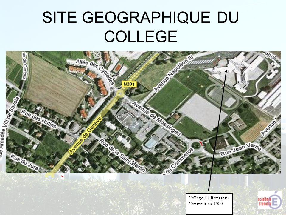SITE GEOGRAPHIQUE DU COLLEGE