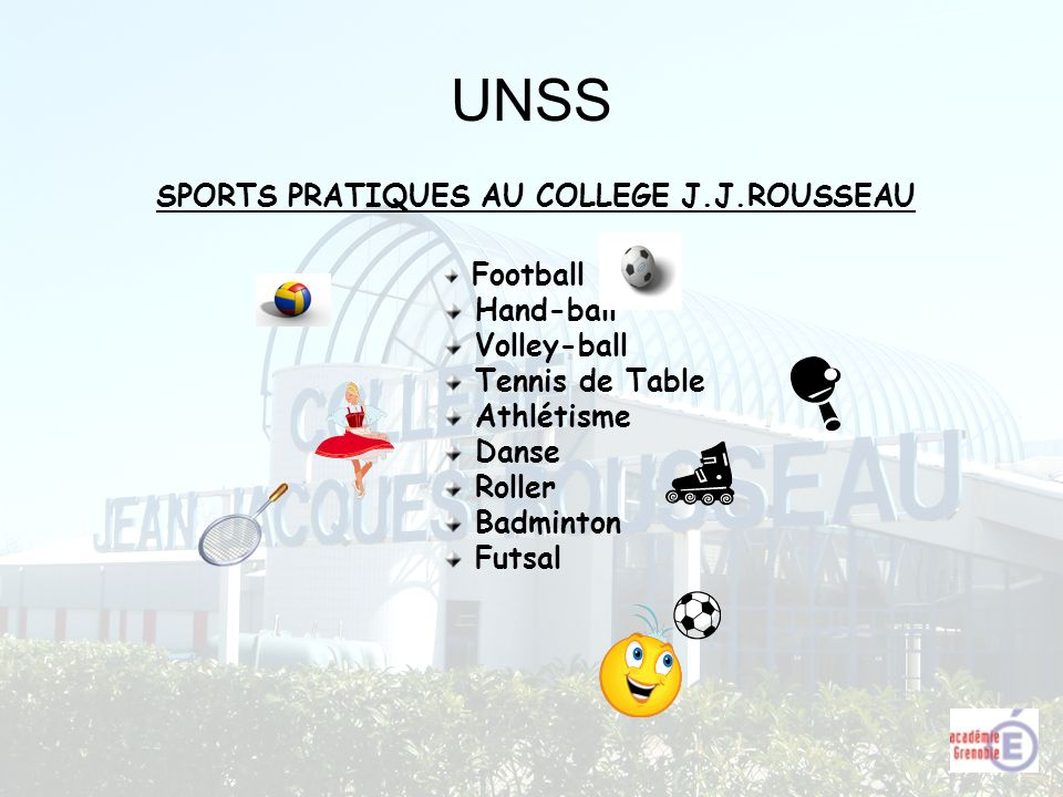 SPORTS PRATIQUES AU COLLEGE J.J.ROUSSEAU