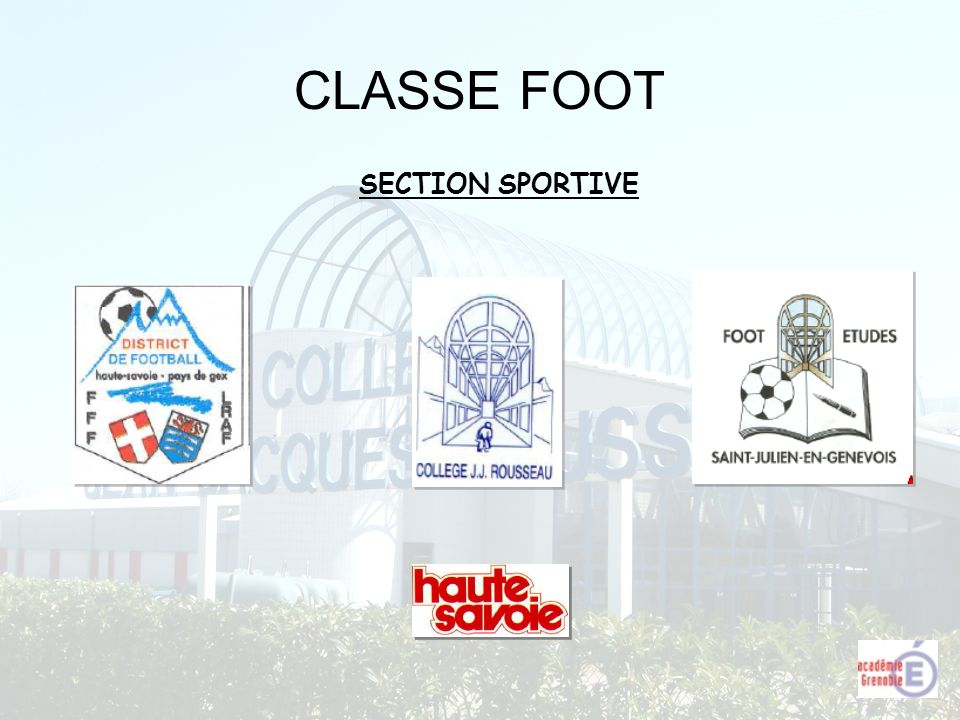 CLASSE FOOT SECTION SPORTIVE