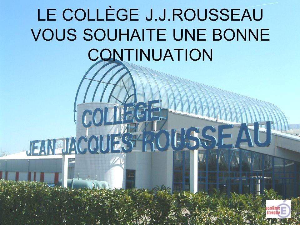 LE COLLÈGE J.J.ROUSSEAU VOUS SOUHAITE UNE BONNE CONTINUATION