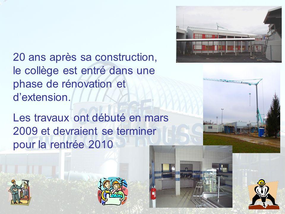 20 ans après sa construction, le collège est entré dans une phase de rénovation et d'extension.