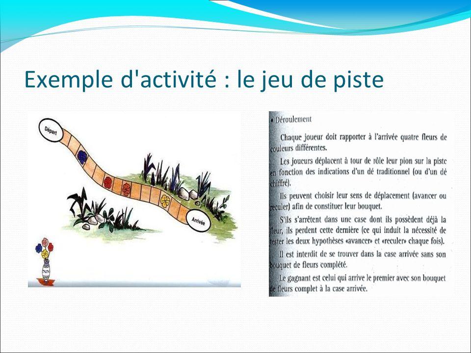 Exemple d activité : le jeu de piste