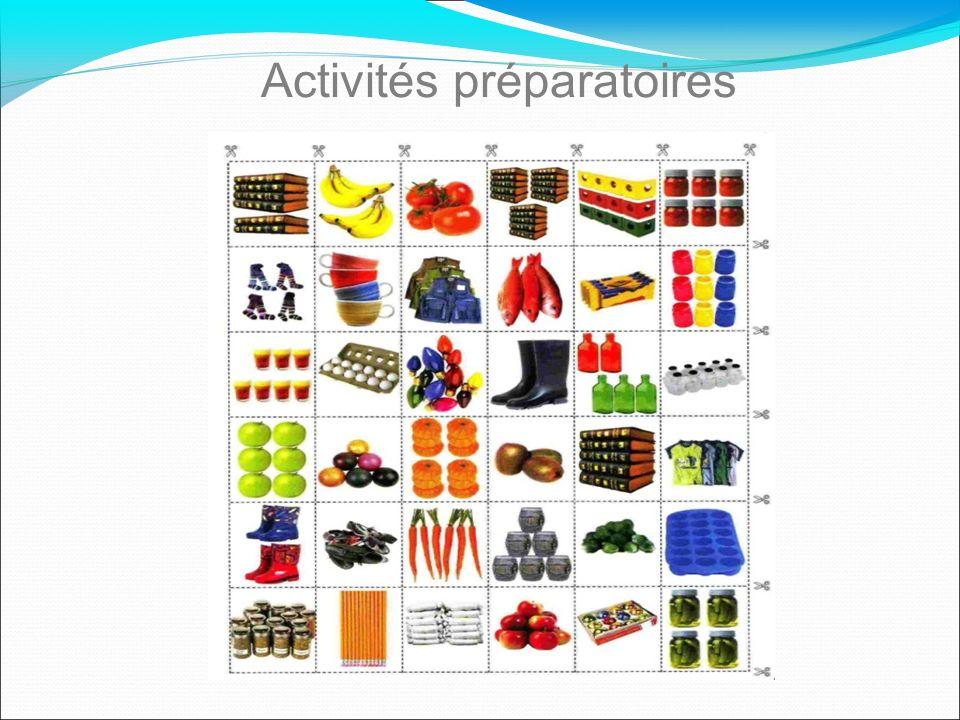 Activités préparatoires