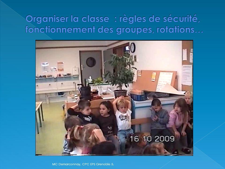 Organiser la classe : règles de sécurité, fonctionnement des groupes, rotations…
