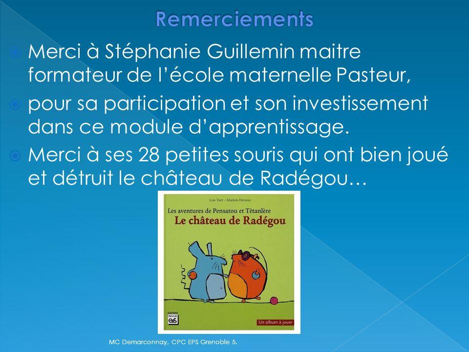Remerciements Merci à Stéphanie Guillemin maitre formateur de l'école maternelle Pasteur,