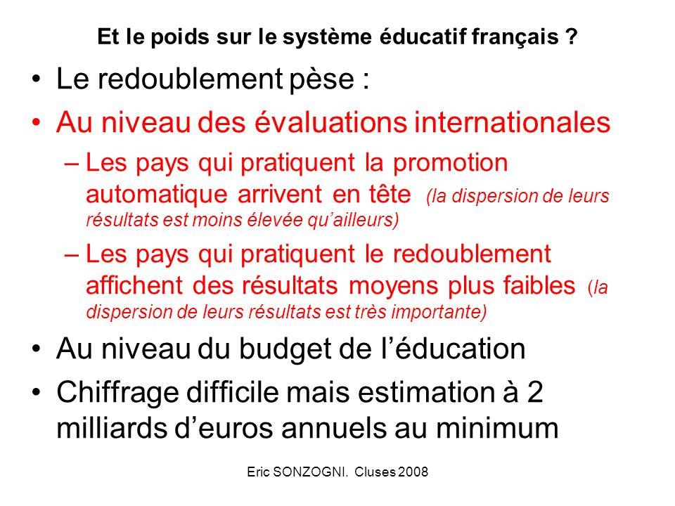 Et le poids sur le système éducatif français