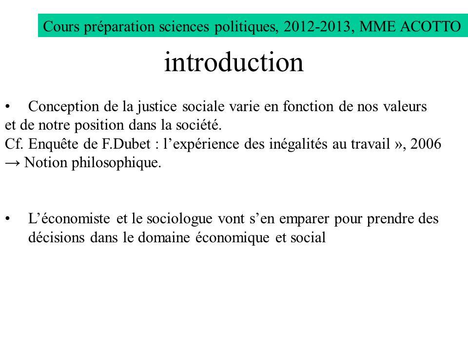 Cours préparation sciences politiques, 2012-2013, MME ACOTTO