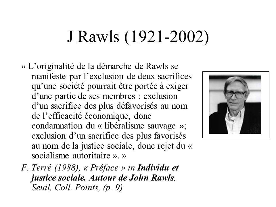 J Rawls (1921-2002)