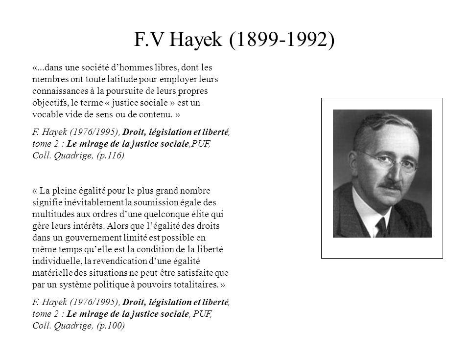 F.V Hayek (1899-1992)