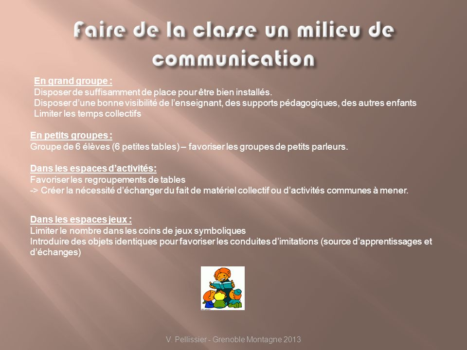 Faire de la classe un milieu de communication