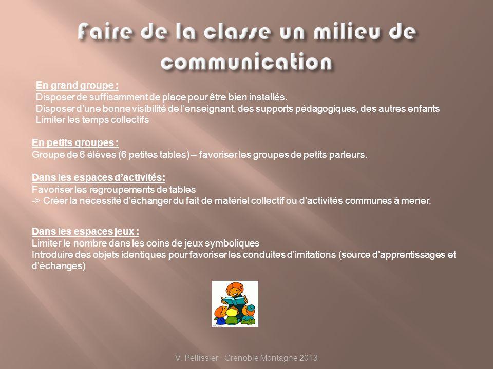 Faire de la classe un milieu de communication