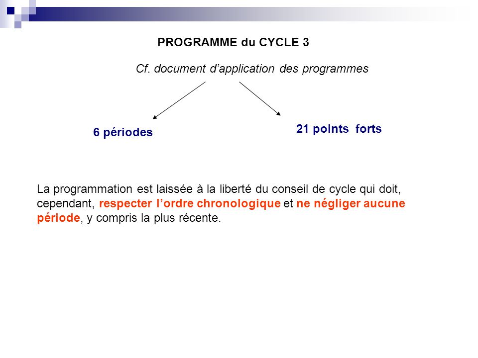 Cf. document d'application des programmes