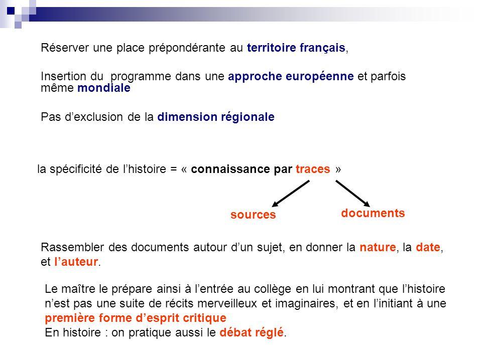 Réserver une place prépondérante au territoire français,