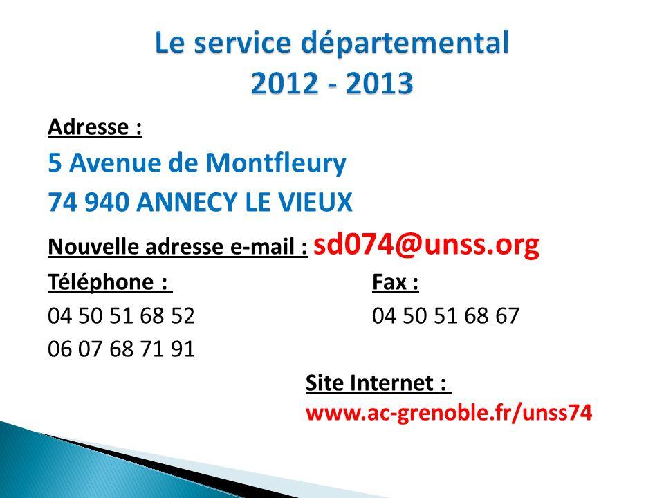 Le service départemental 2012 - 2013