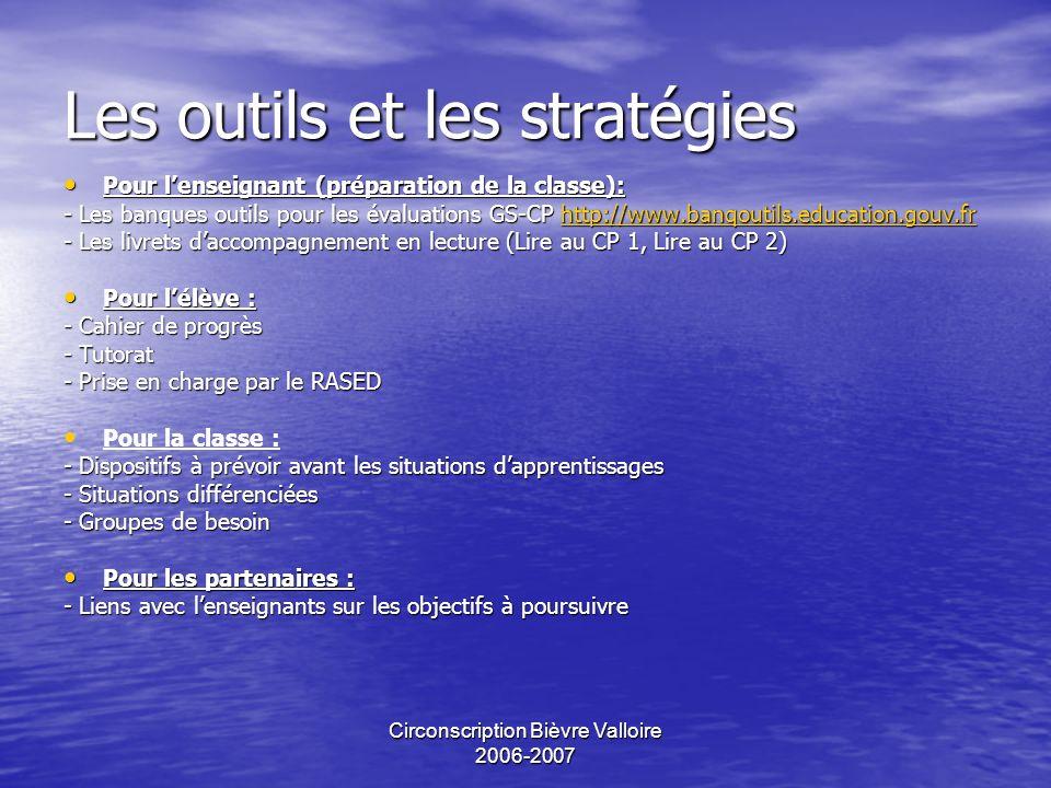 Les outils et les stratégies