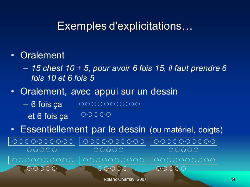 Exemples d explicitations…