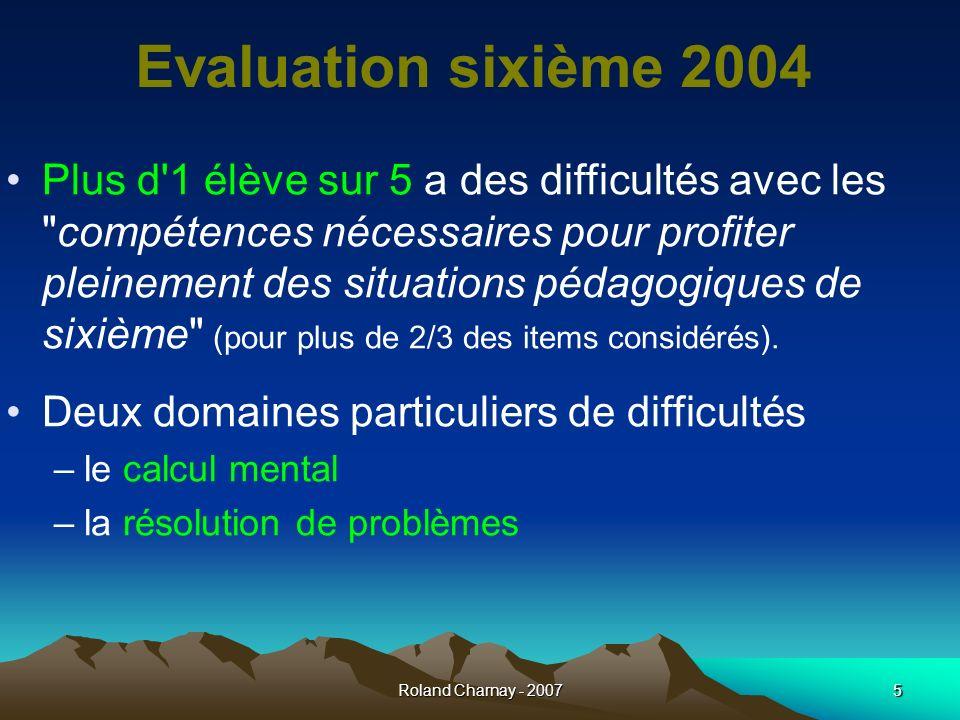 Evaluation sixième 2004