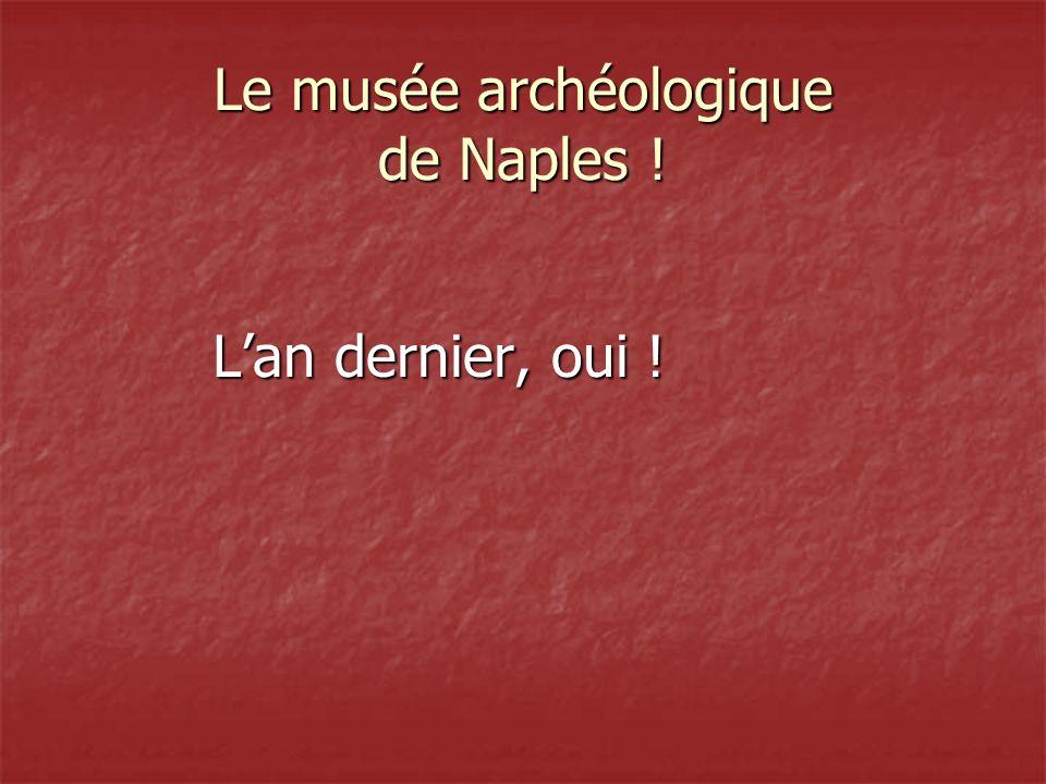 Le musée archéologique de Naples !