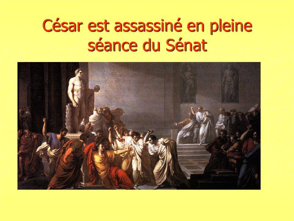 César est assassiné en pleine séance du Sénat