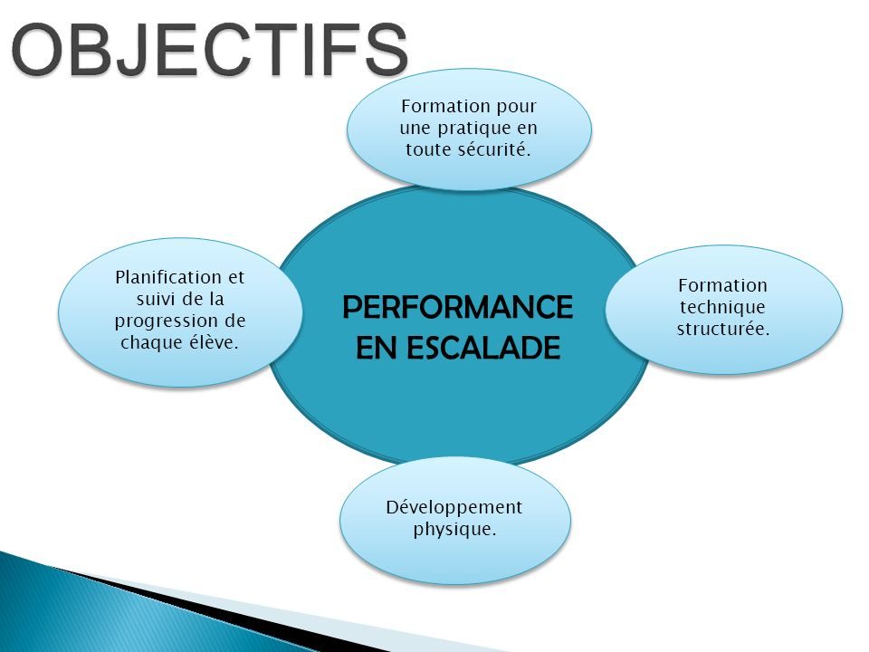 OBJECTIFS PERFORMANCE EN ESCALADE