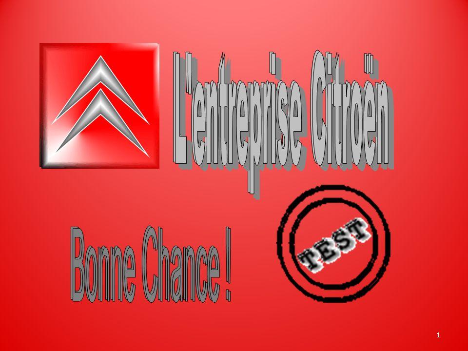L entreprise Citroën L entreprise Citroën Bonne Chance ! Bonne Chance !