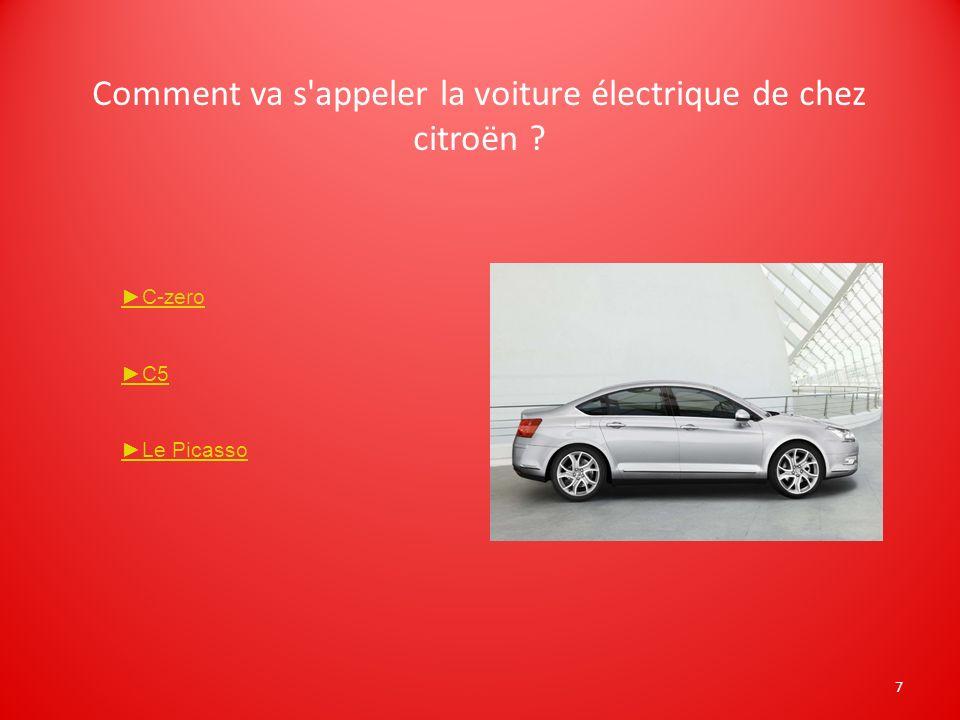 Comment va s appeler la voiture électrique de chez citroën