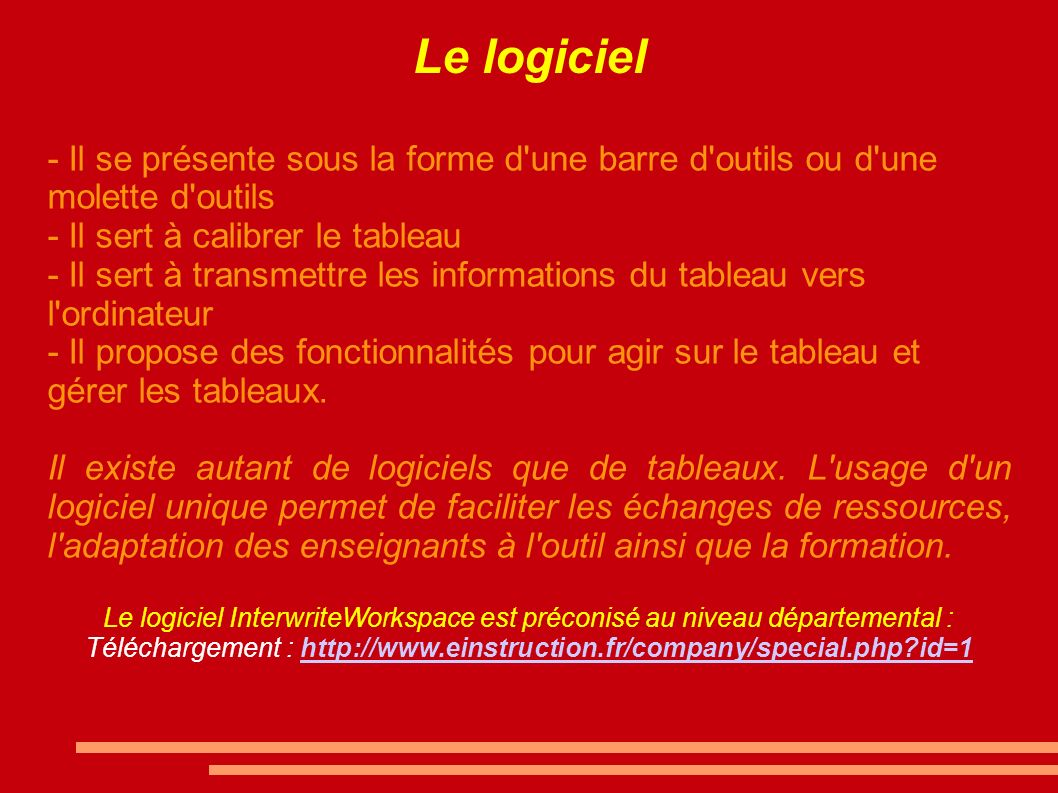 Téléchargement : http://www.einstruction.fr/company/special.php id=1