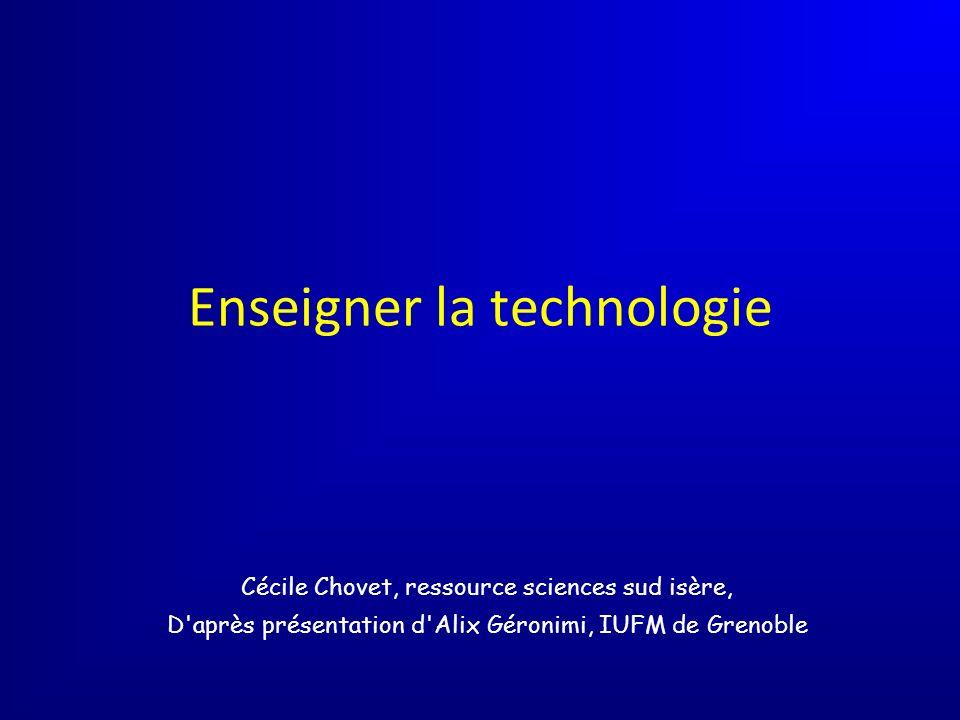 Enseigner la technologie