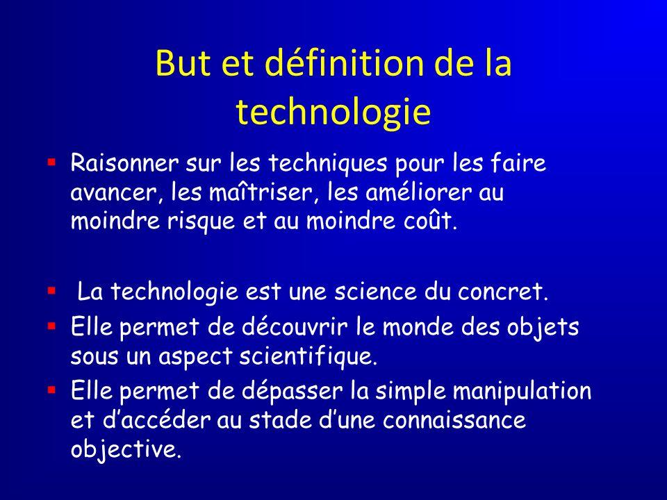 But et définition de la technologie