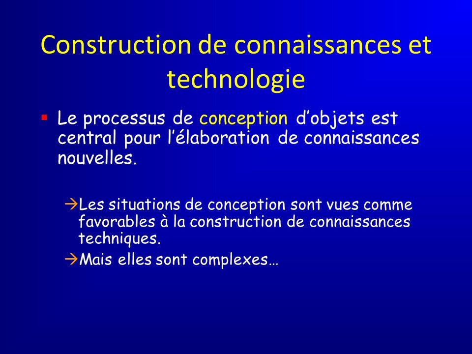Construction de connaissances et technologie