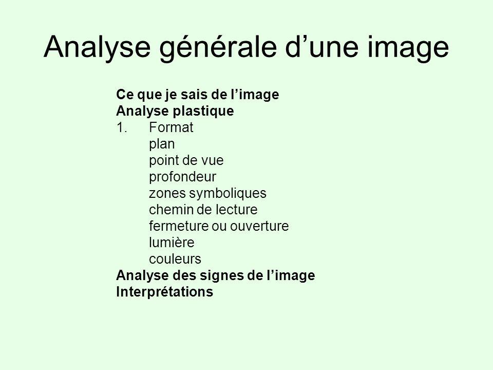 Analyse générale d'une image