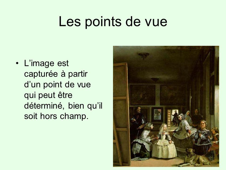 Les points de vue L'image est capturée à partir d'un point de vue qui peut être déterminé, bien qu'il soit hors champ.