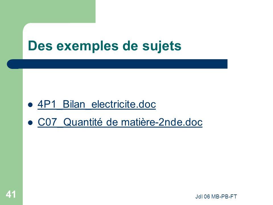 Des exemples de sujets 4P1_Bilan_electricite.doc