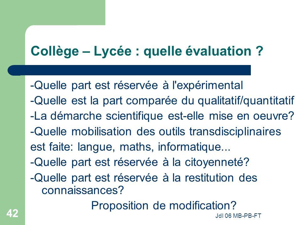 Collège – Lycée : quelle évaluation