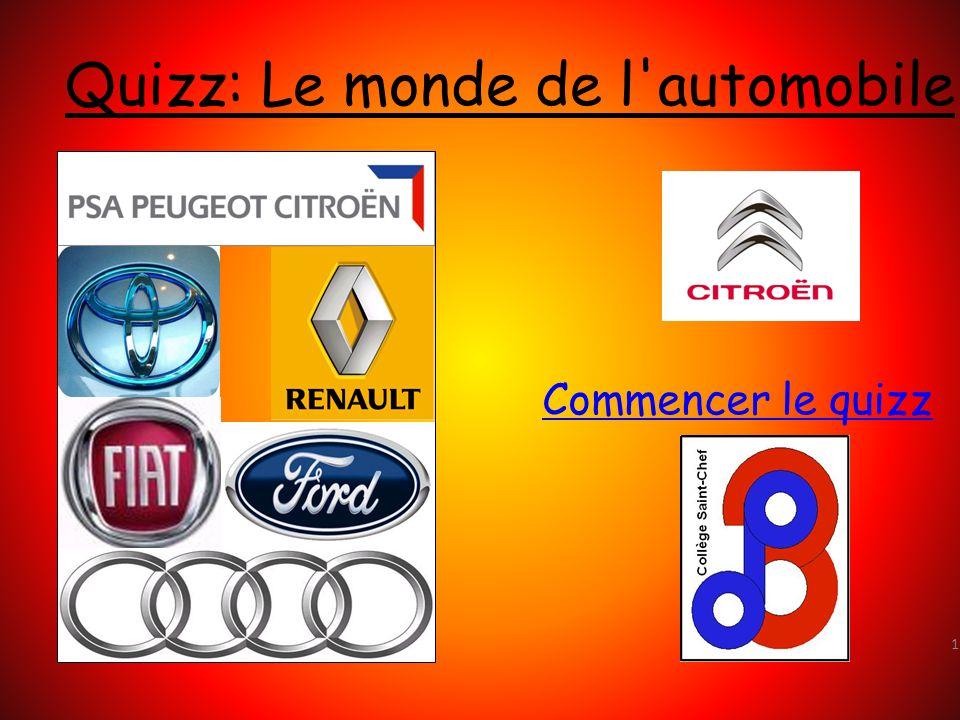 Quizz: Le monde de l automobile
