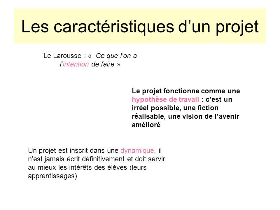 Les caractéristiques d'un projet