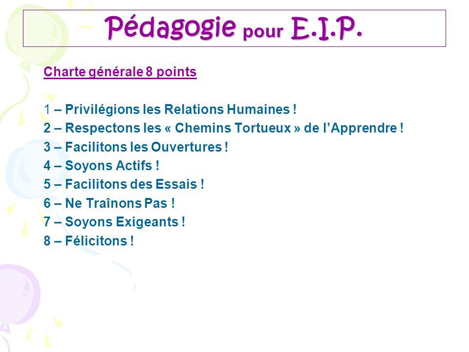 Pédagogie pour E.I.P. Charte générale 8 points
