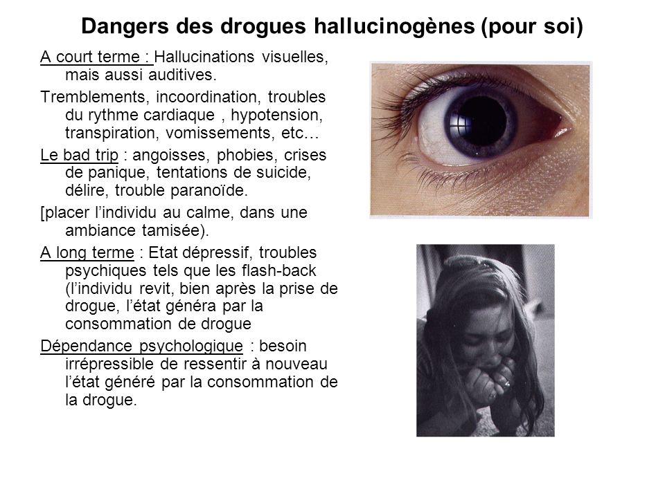Dangers des drogues hallucinogènes (pour soi)