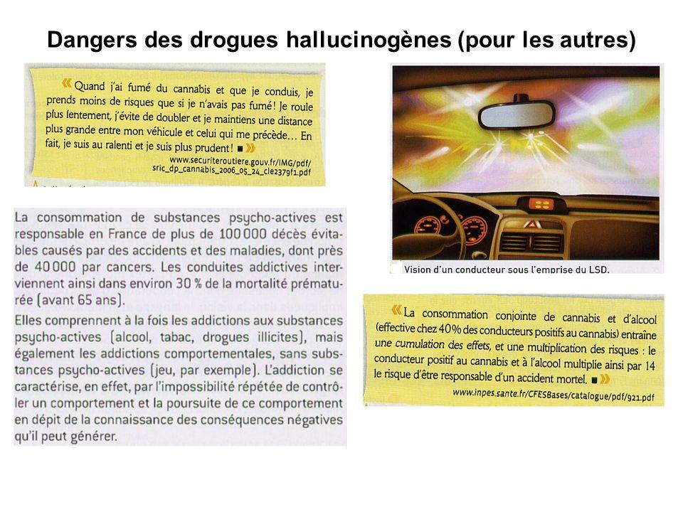 Dangers des drogues hallucinogènes (pour les autres)